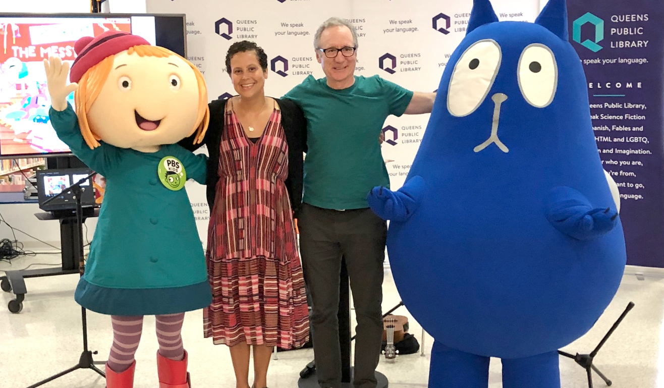 Jennifer Oxley and Billy Aronson with Peg + Cat