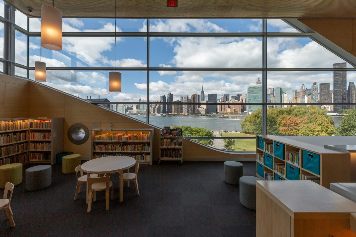The children's area of the new Hunters Point Library.