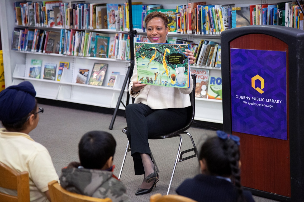 NYC Council Member Adrienne Adams at South Ozone Park Library.