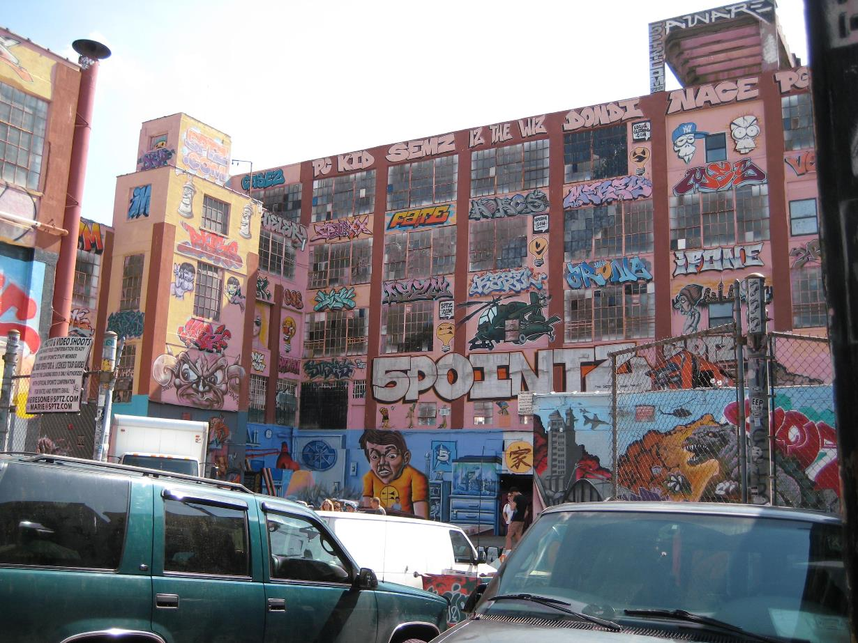 The legendary 5Pointz mural space at Davis Street in Long Island City. This picture was taken in July 2013, four months before the building was whitewashed.